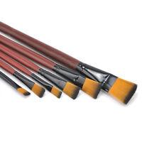 6pcs/set Aquarellfarbene Nylon-Acrylöl-Pinsel für Künstlerbedarf