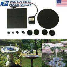 Floating Solar Powered Pond Garden Water Pump Fountain Sets Bird Bath Fish Tank