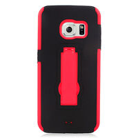 For Samsung Galaxy S6 EDGE IMPACT Hard Rubber Case Cover Kickstand Accessory