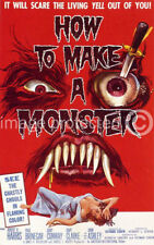How To Make A Monster vintage movie poster -24x36