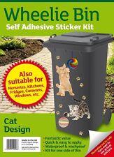Wheelie Bin Self Adhesive Sticker Kit - Cat Design