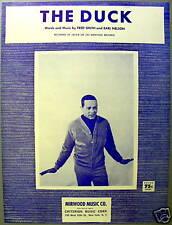JACKIE LEE Sheet Music THE DUCK Criterion Publ. 60's POP VOCAL Dance Craze