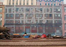 #225 N scale background building flat  LARGE FACTORY   *FREE SHIPPING*