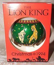 "Disney 1994 The Lion King Christmas Xmas Ornament Schmid Large 4"" Size L@@K"