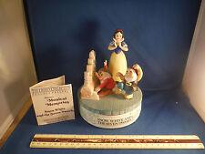 "Vintage Disney Snow White & 7 Dwarfs Moving ""Heigh Ho"" 1980 Ltd. Ed. Music Box"