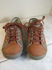KEEN Two Tone Brown Leather Oxford Lace Up Sneaker Shoes Women's 7 EU 37.5