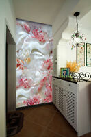 3D Red Lotus Marble Art 1819 Wall Paper Wall Print Decal Wall AJ WALLPAPER CA