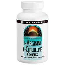 SOURCE NATURALS L-ARGININE & L-CITRULLINE COMPLEX - 1000mg x 120 TABLETS