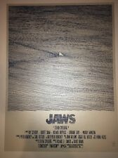 Jaws Art Print Movie Poster Kosowski Signed Limited Edition