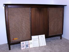 Voice of Music VM # 816-3 Mid Century Modern AM/FM Stereo Tube Console + Manual