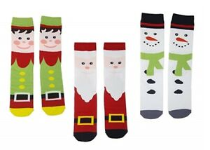 3 x LADIES Christmas Socks Xmas Novelty Stocking Filler HALF PRICE gift for her