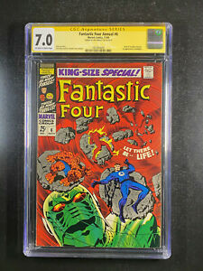 Fantastic Four King Size Annual 6 CGC 7.0 signed by Joe Sinnott 1st Annihilus