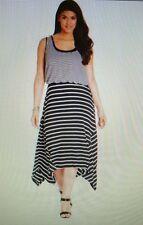REDUCED!! NWT Sz 2X Macy's Style&co. Striped Layered-Look Dress Handkerchief Hem