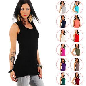 Mellice - Damen Longshirt Tank Top Long Top Shirt