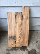 Three small figured  Elm  boards