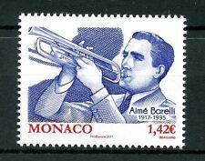 Monaco 2017 MNH Aimé Barelli 1v Set Trumpets Musical Instruments Music Stamps