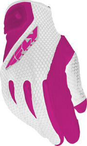 Fly Racing Ladies CoolPro II Gloves White/Pink X-Large #5884 476-62105