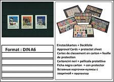 100 LOOK DIN A6 Einsteckkarten Steckkarten Klemmkarten 4 Streifen + Deckfolie