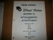 wheel horse tractor ATTACHMENTS & ACCESSORIES PARTS  MANUAL SEE PIC 16 PAGES