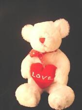 "White Faux Fur Teddy Bear - 20 "" Tall Valentine Bear"