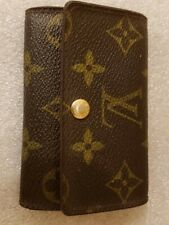 Key Holder Louis Vuitton Monogram Canvas Leather Authentic with Box and Pouch