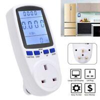 Electricity Power Meter Energy Consumption Monitor Watt Kwh Analyzer UK Plug