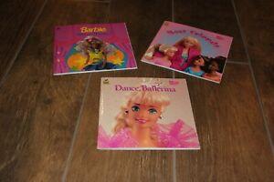 Lot of 3! Vintage Barbie Golden Books! Show Time! Best Friends & Dance Ballerina