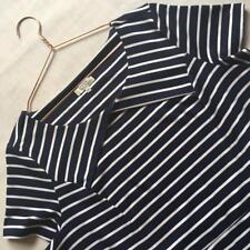 Papaya Classic Navy Blue Breton Stripe Stretchy Flattering Plus Size 20 Dress