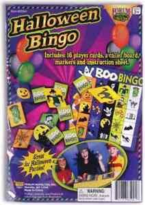 Halloween Bingo Haunted Classroom Carnival Theme Holiday Party Activity Game