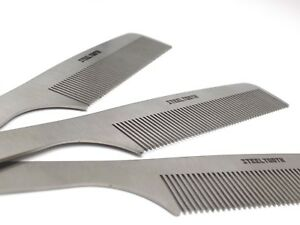 Steeltooth Comb - Anti Static Comb/Brush Hybrid - Stainless Steel