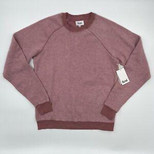 FEAT Socks Blanket Blend Crew Neck Pullover Sweatshirt Ash Rose S M L XL NWT