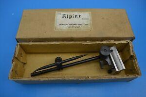 "Vintage 'Alpine' Surface Gauge Scriber Stand. 8"" Tall. Graham Engineering. Boxed"