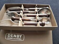 Scarce Denby Stainless Regency SAMARKAND BROWN 5 piece Place Setting - New