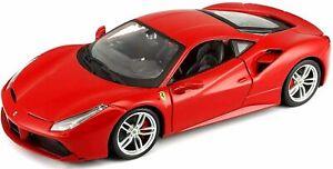 NEW Ferrari 488 GTB 1:24 Scale Detailed Diecast Model Car Bburago Race & Play