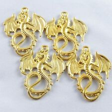 37136 Vintage Gold Alloy Winged Dragon Charms Pendants Craft Finding 24pcs