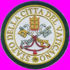 Medieval Vatican Roman Knight Holy Land Pope Crest Seal Vestment Patch Christian