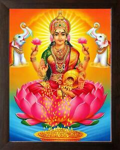 Goddess of Wealth, Maa Laxmi Showering Money, High Contrast HD Printed Religious