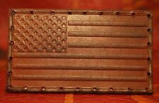 Leather patch - American Flag - Handmade in Oregon bushcraft backpack USA