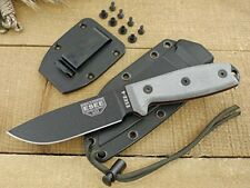 Esee -4 Plain Edge Black Sheath Black Blades with Micarta Handle