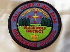 Boy Cub Scout Greenwich Council 2004 Camporee Blackwolf District Patch
