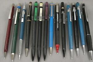 14 Various Drafting Mechanical Pencils - .5 & .7mm - Pentel Castel Skillcraft ++