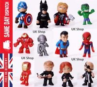 Marvel Avengers DC Comics Figures Cake Toppers Hulk Batman Super heroes -12PCS
