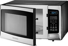 Insignia 0.9 Cu. Ft. Compact Countertop Microwave Stainless Steel 900W LED Elec