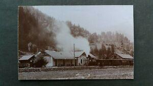7455 Pressefoto TURRACH - Bahnhof mit Dampfzug um 1936