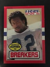 Marcus Dupree 1985 Topps #105 USFL Football Card NM Condition Boston Breakers