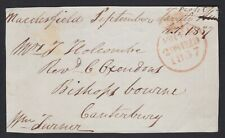 1837 Gb Uk Pre-Stamp Postal Free Front Only Rev Oxendon Bishopsbourne Canterbury
