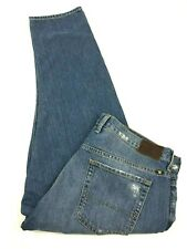 Lucky Brand Dylan Boyfriend Womens Distressed Light Wash Jeans Cropped Sz 10/30