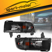 Headlights w/ LED DRL Replacement for 94-02 Dodge Ram 1500 2500 3500 Pickup PAIR