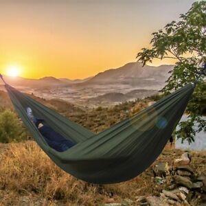 HAMMOCK!! Sleeping Camping Furniture Outdoor Portable Parachute Swing Travel Bed