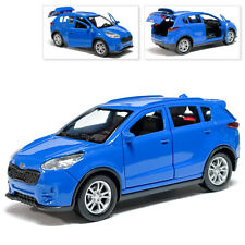 Kia Sportage Metal Model Diecast Car Scale, Collectible Toy Cars, Blue, 1/36
